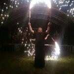 Tűzzsonglőr bemutató Bátorban