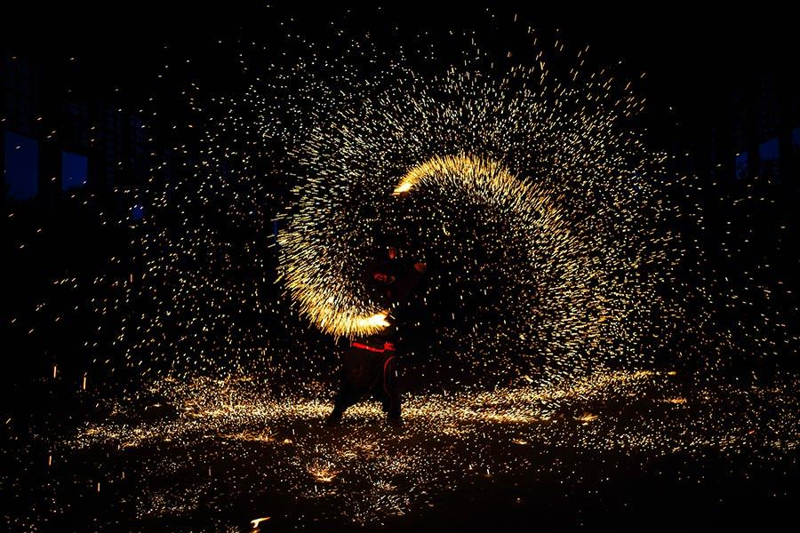 Budapest Vásárcsarnok Tűzzsonglőr Fotózás 2019