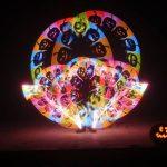 Halloween, visual poi, LED zsonglőr, bemutató, 2017