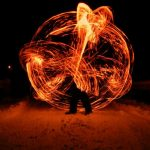 Bátor, Téli Tűzzsonglőr Fotózás, 2011